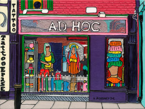 Illustration of Ad Hoc shopfront in Dublin