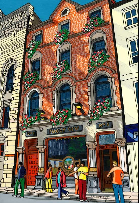 Illustration of The Foggy Dew Pub In Dublin