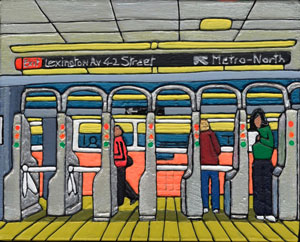 Illustration of Lexington Avenue Subway Station in New York