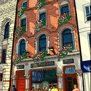 Illustration of The Foggy Dew Pub in Dublin