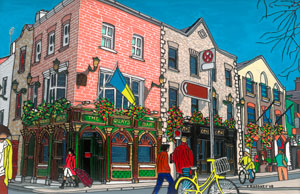 Ilustration of The Quays Bar in Dublin